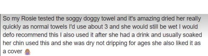 dog towel suitable for all dogs